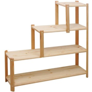 kit etagere rangement en forme d 39 escalier h96 l100 p26 5. Black Bedroom Furniture Sets. Home Design Ideas